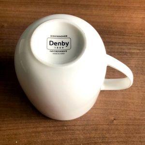 Denby Classic White Coffee Mug EUC
